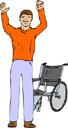 Man and Wheelchair
