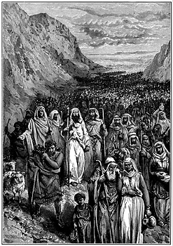 Children of Isreal in the desert