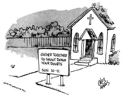 Doubt Cartoon